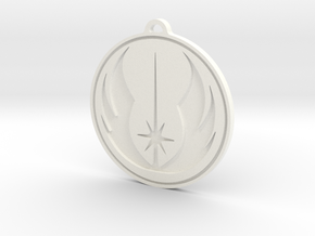 Jedi Pendant in White Strong & Flexible Polished