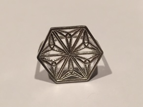 Silver Snowflake Ring in Raw Silver: 8 / 56.75