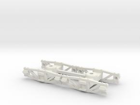 On2 Sandy River archbar trucks in White Natural Versatile Plastic