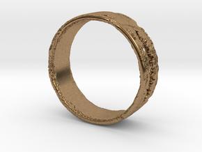 Smile Ring in Natural Brass