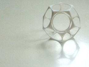Dodecahedron Surface in White Strong & Flexible