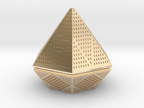 Diamond lampshade in 14k Gold Plated Brass
