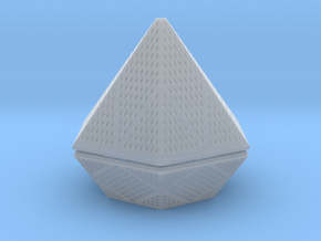 Diamond lampshade in Smooth Fine Detail Plastic