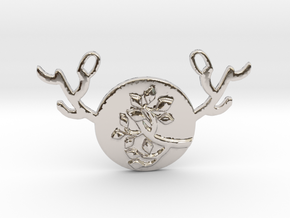 Horned Moon Summer by ~M. in Rhodium Plated Brass