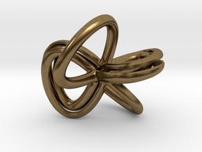 1 Inch Cut Mobius in Natural Bronze