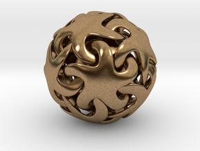 Starfish ball in Natural Brass