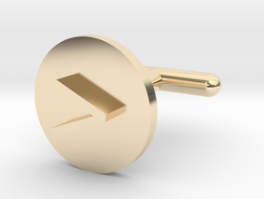 Cufflink - Greater Than Symbol in 14K Yellow Gold