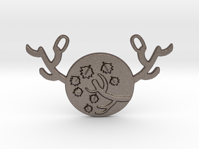Horned Moon Autumn by ~M. in Polished Bronzed Silver Steel