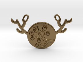 Horned Moon Autumn by ~M. in Polished Bronze