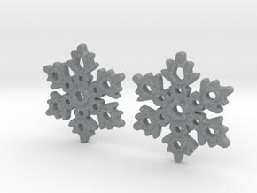 Snowflake Earring Dangles (pair) in Polished Metallic Plastic