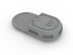 Rhino Single Hatch With Vent in White Strong & Flexible Polished