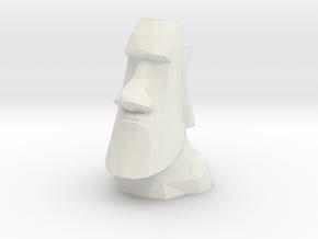 Moai Single Flower Vase in White Strong & Flexible