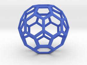 1 Inch Soccer Ball Wireframe in Blue Strong & Flexible Polished