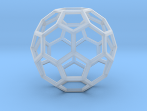 1 Inch Soccer Ball Wireframe in Smooth Fine Detail Plastic