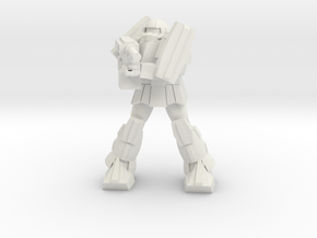'Pug' A1A - Pugnator pose 3 in White Natural Versatile Plastic