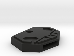 Shinigami Badge Key Cap in Black Natural Versatile Plastic