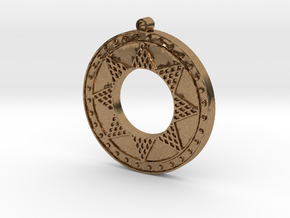 Ancient Sun (solid, raised design) in Natural Brass
