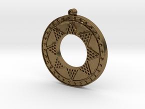 Ancient Sun (solid, raised design) in Natural Bronze