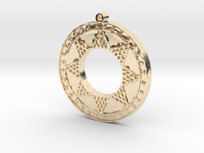Ancient Sun (solid, raised design) in 14k Gold Plated Brass