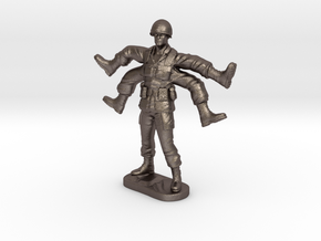 Foot Soldier | Weird Warrior | Mutant Army Man in Polished Bronzed Silver Steel