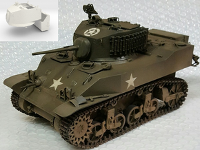 1:16 USA M5A1 Turret & Bustle in White Natural Versatile Plastic