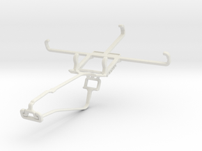 Controller mount for Xbox One Chat & BlackBerry Le in White Natural Versatile Plastic