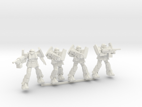 A1B Bulldog squad in White Natural Versatile Plastic
