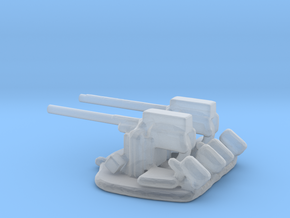 1/288 Scale 3 In 50 Cal Twin Automatic in Smooth Fine Detail Plastic