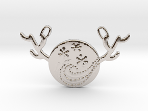 Horned Moon Winter by ~M. in Rhodium Plated Brass