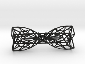 Geometric Bow Tie  in Black Natural Versatile Plastic