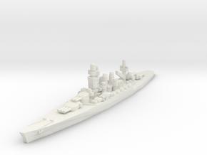 Andrea Doria Battleship 1/2400 in White Natural Versatile Plastic