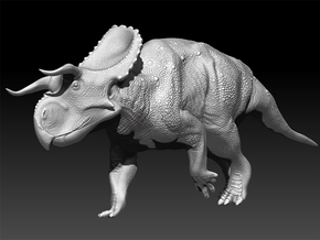 Nasutoceratops 1:40 scale model in White Natural Versatile Plastic