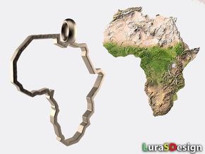 Africa Pendant in Stainless Steel: Medium