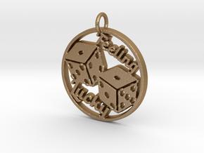 Feeling Lucky Dice Pendant in Matte Gold Steel