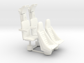 YT1300 5 FOOTER COCKPIT SEATS PLASTIC in White Processed Versatile Plastic