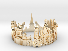 Sankt Petersburg Skyline - Cityscape Ring in 14K Yellow Gold: 9 / 59