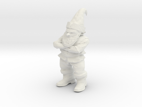 Petrified Grumpy Gnome in White Natural Versatile Plastic