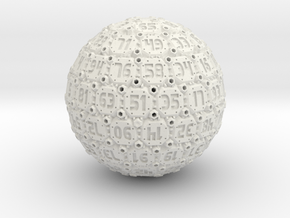 Tech Dice - D100 in White Natural Versatile Plastic