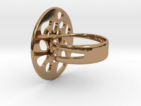 RING LOBULAR Size 7 in Polished Brass