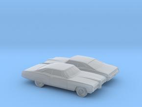 1/160 2X 1968 Pontiac Bonneville Coupe in Smooth Fine Detail Plastic