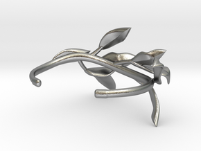 Laurel Leaf Cuff in Natural Silver