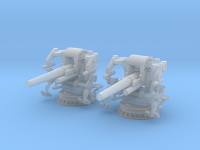 1/350 UNS 5 inch 25 Cal. GUN MOUNT MARK 40 SET in Smooth Fine Detail Plastic