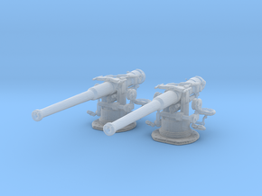 1/350 USN 4 inch 50 (10.2 cm) Sub Gun Deck SET in Frosted Ultra Detail