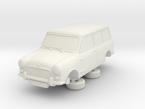 1-64 Austin Mini 64 Estate in White Strong & Flexible