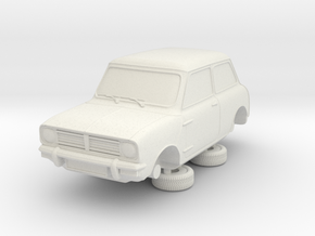 1-64 Austin Mini 74 Saloon in White Strong & Flexible