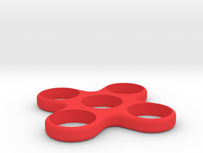 Quad Spinner in Red Processed Versatile Plastic