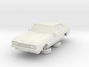 1-64 Ford Capri Mk2 Standard in White Strong & Flexible