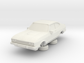 1-64 Ford Capri Mk3 Standard in White Natural Versatile Plastic
