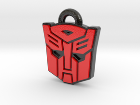 Autobot/Decepticon Flip Symbol in Coated Full Color Sandstone