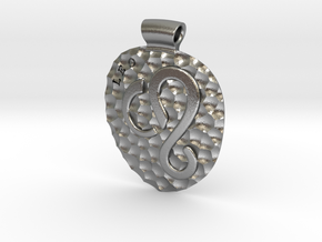 Leo Pendant in Natural Silver